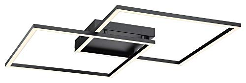 Access Lighting 63967LEDD-BL/ACR Squared Flush Mount, Black