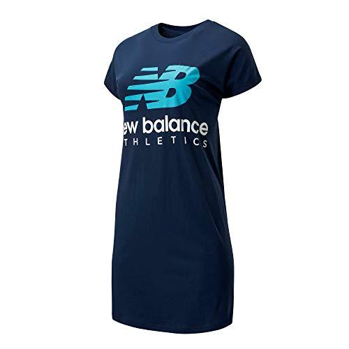 New Balance WD01502 Vestido Deportivo Essentials Icon T para Mujer, Negro, S