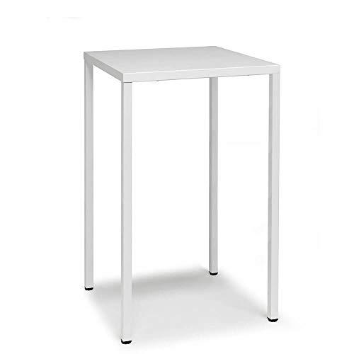 Scab Set 2 Design Summer Table Haute 110 cm 70 x 70 cm Blanc