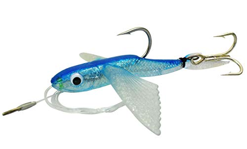 MagBay Lures 8' Flying Fish Yummee Flyer Carolina Tuna Lure Rigged with Stinger Treble Hook