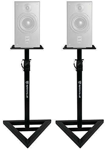 (2) Rockville Adjustable Studio Monitor Speaker Stands For ATC SCM20ASL Pro mk2