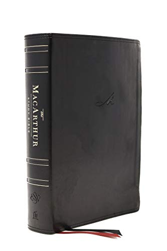 ESV MacArthur Study Bible, 2nd Edition, The, Leathersoft, Black, Thumb Indexed: Unleashing God's Truth One Verse at a Time