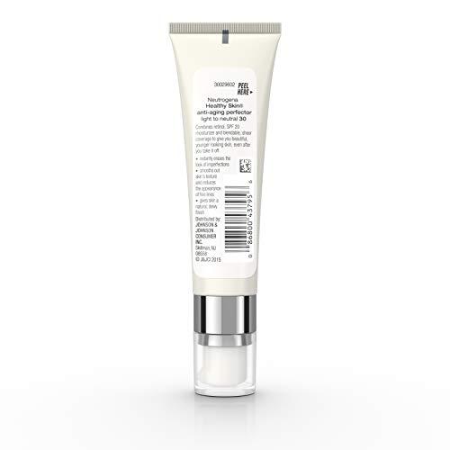 31QbNmNV 5L - Neutrogena Healthy Skin Anti-Aging Perfector Tinted Facial Moisturizer and Retinol Treatment with Broad Spectrum SPF 20 Sunscreen with Titanium Dioxide, 30 Light to Neutral, 1 fl. oz