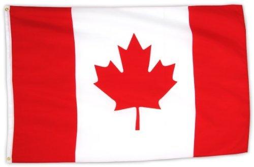 Flaggenking Canada vlaggen/vlag, wit, 150 x 90 cm, 16889