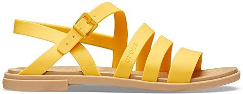 Crocs Tulum W, Sandali Tempo Libero e Abbigliamento Sportivo Donna, Multicolor (Canarie/Tan), 39 EU