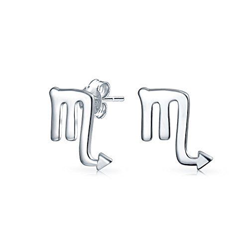 Winzige einfache Skorpion Astrologie Horoskop Sternzeichen Ohrstecker für Teen für Frauen 925 Sterling Silber 12 Geburt Monat Zeichen