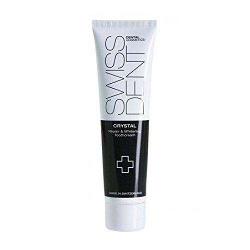 Swissdent Crystal Whitening Tandcrème, 100 ml, natuurlijk witte tanden, tandbleekmiddel voor gevoelige tanden