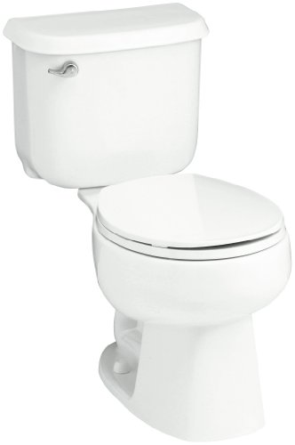 STERLING 402015-0 Windham 12-Inch Rough-in Round Front Toilet, White