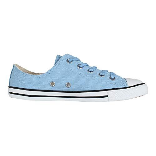 Converse Damen Chuck Taylor CTAS Dainty Ox Sneakers, Mehrfarbig (Light Blue/Light Blue/Silver 472), 37.5 EU