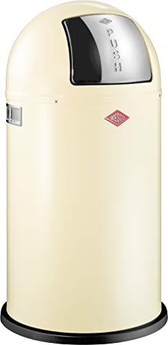 Wesco 175 831 Pushboy Abfallsammler 50 Liter Mandel 40 x 40 x 75.5cm (L/B/H), Edelstahl