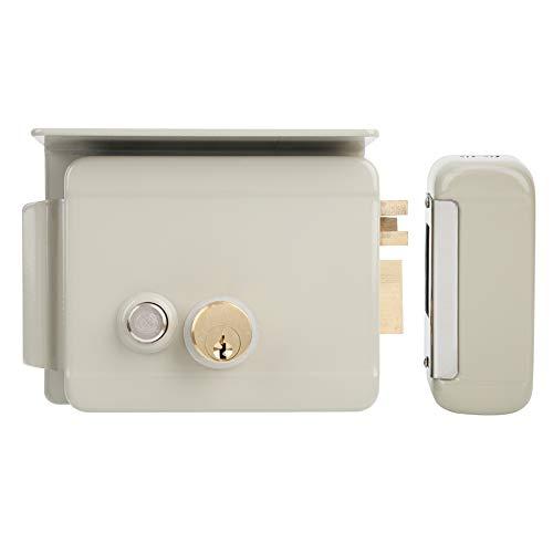 Cerradura de puerta eléctrica con llaves, cerradura de puerta con sistema de...