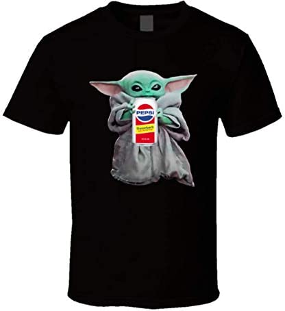 Baby Yoda The Child Pep si Throwback Soda Pop Drink Funny Classic Unisex T Shirt Hoodie Hooded product image