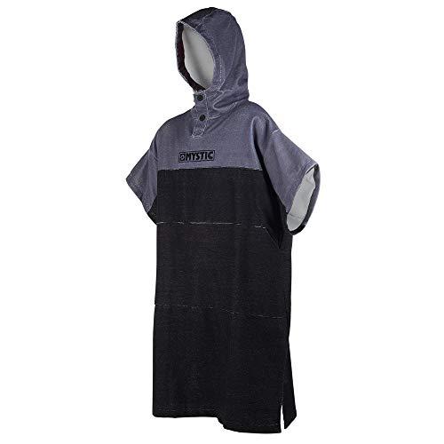 Mystic Regular Poncho oder Wickeltuch für Strand-Wassersport & Surfen - Wechselkleider schwarz grau - Unisex