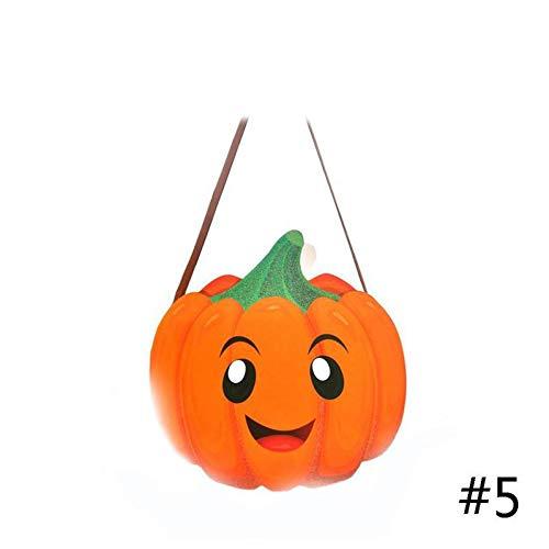 WSJKHY Halloween-snoepjes-boodschappentas pompoen-geest-gevormde papieren doos-koekjes-cadeau-tas hallween-partij extra geschenken E