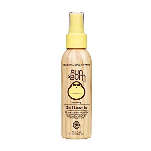 Sun Bum Revitalizing 3 in 1 Leave-In Conditioner Spray - Detangler - Anti Frizz - Paraben Free - Gluten Free - Vegan - Color Safe - UV Protection - 4 oz Spray Bottle - 1 Count Detangling Light Conditioning Mist