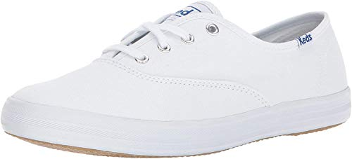 Keds Women's Champion Original Leather Lace-Up Sneaker, White, 8