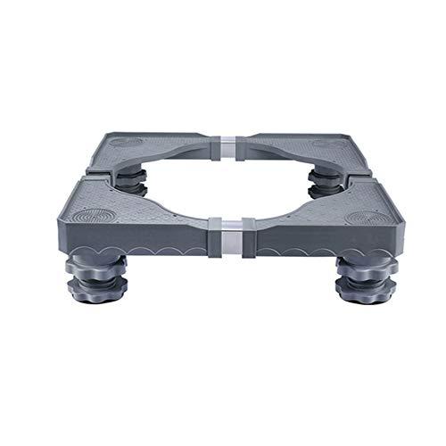N / E Soporte Universal para Lavadora con Base móvil, Base Ajustable móvil Multifuncional, con 4 pies Fuertes, para Lavadora, Secadora y refrigerador