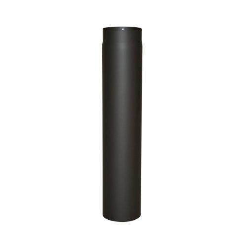 Kamino Flam Ofenrohr schwarz, Rauchrohr aus Stahl für sichere Ableitung von Verbrennungsgasen, hitzebeständige Senotherm Beschichtung, geprüft nach Norm EN 1856-2, Maße: L 750 x Ø 130 mm