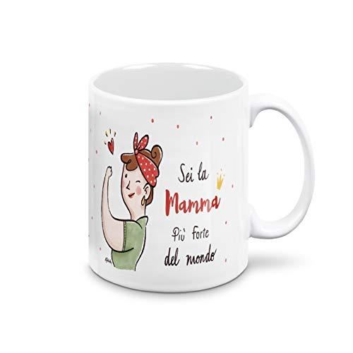 Taza para el día de la madre, taza de desayuno para regalo de mamá, regalo para el día de la madre, taza con certificado de cerámica Ultra White, taza de 325 ml