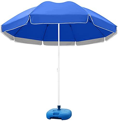 ZXCVB Paraguas para patio con base de paraguas, sombrilla portátil para muebles de jardín, protección solar, verano, 2 colores, 3 tamaños (color: verde, tamaño: 2,2 m) (color: azul, tamaño: 2,2 m)