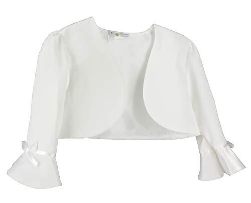 Bolero - Giacca bianca o avorio, per bambina e neonato, per matrimonio, battesimo, comunione bianco 6 anni