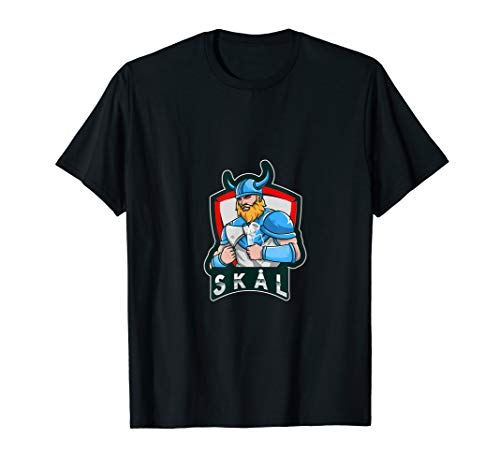 Lustiges Wikinger Motiv - saufen Säufer Skal Skål schwedisch T-Shirt