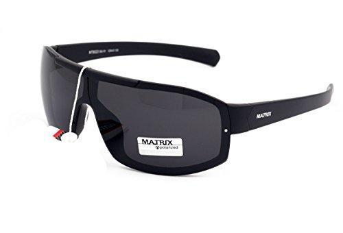 Matrix Collection gepolariseerde zonnebril voor mannen bestuurders, vissen, sport - lichtgrijze lenzen - geen schittering - kunststof frame, nieuw ontwerp