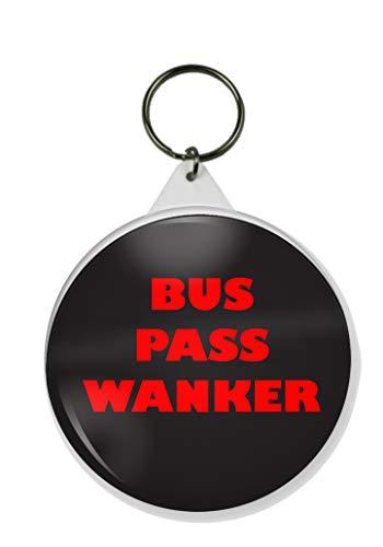 Gifts & Gadgets Co. Schlüsselanhänger Bus Pass Wanker, rund, 58 mm Durchmesser, groß