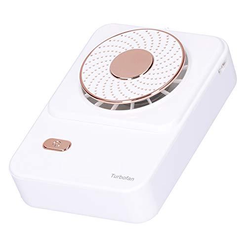 01 Ventilador para Colgar en el Cuello, Enfriador de Aire de 3 velocidades, Ventilador de Carga Tipo C, Ventilador portátil, para Viajes de Oficina al Aire Libre en el hogar(White)