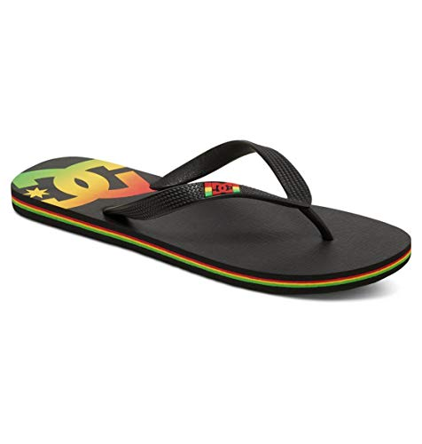 DC Shoes Spray, Sandlai Sportivi Uomo, Nero (Rasta RST), 43 EU