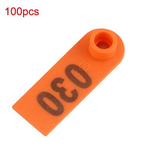 dontdo - Etichette universali in plastica per Orecchie di Capra e Pecore, 100 Pezzi