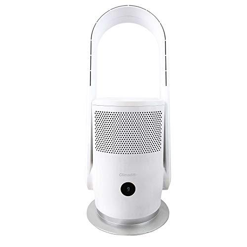 Climadiff – Ventilador y purificador de aire AIRPUR1 – Elimina el 99,95% de las partículas ultrafinas en suspensión – Eficaz contra el polvo fino, ahumado, bacterias, moho, gérmenes