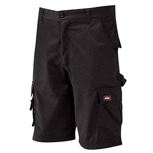Lee Cooper Workwear LCSHO806 Classic Multi tasca cargo pesanti Easy Care lavoro Workwear Shorts, Nero, Taglia 38' Vita