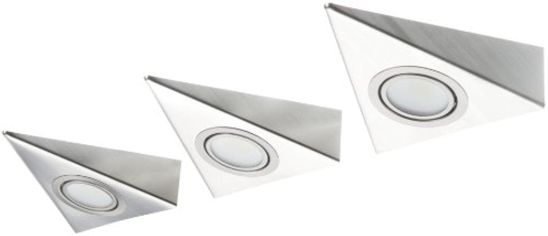 IKM LED Dreieckleuchte Edelstahl 3-er Set (ohne Schalter) 59301321 B