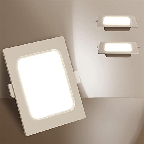 Aigostar Downlight LED Empotrable 15W equivalente 140W, 4000K Luz natural, Blanco,Foco Empotrable LED, Ojos de buey de LED, Ф140-150mm, 2 pack [Clase de eficiencia energética A+]