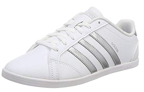 adidas Coneo Qt, Zapatillas para Mujer, Blanco (Footwear White/Matte Silver/Footwear White 0), 44 EU