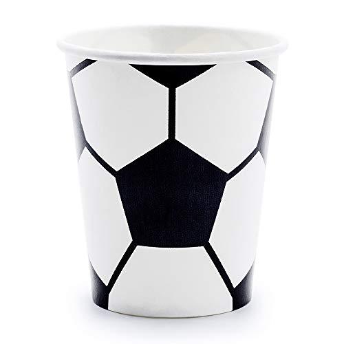 Vaisselle jetable motif de football - En carton Papierbecher Blanc.