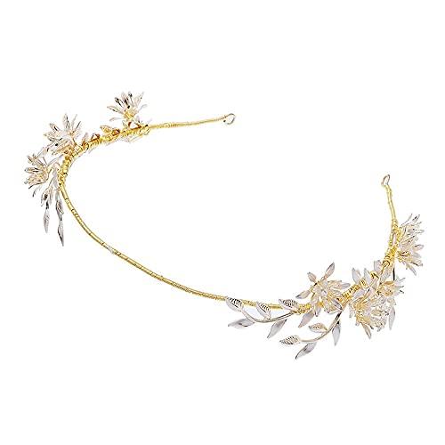 Pendientes de corona de lujo ligeros hechos a mano originales de alta gama conjunto de moda regalo romántico tocado nupcial boda viaje shot-G4236-Crown
