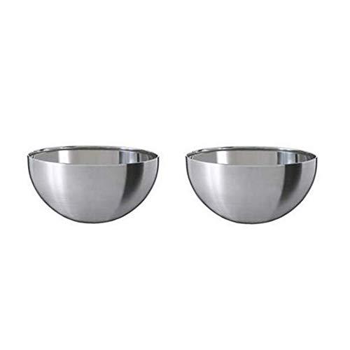 Ikea Blanda Blank Seving Bowl, Stainless Steel, Set of 2 by Ikea