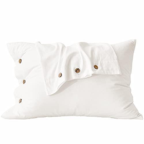 MELINGO White Pillowcases, Organ...