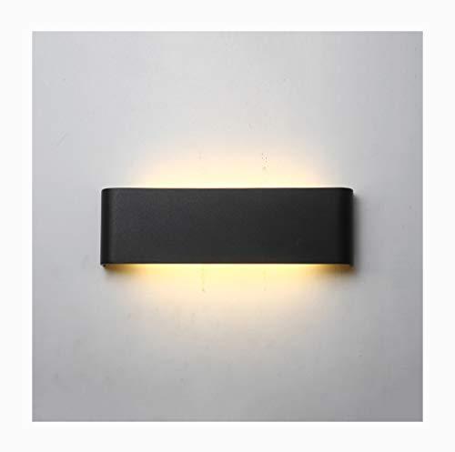 %Éclairage de chevet Applique Moderne Minimaliste LED Salon Chambre Escalier Mur Studio Mur Lumières (Couleur : NOIR-36W/90CM)
