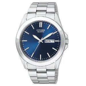 Citizen Quartz Day Date Blue Dial Men's Watch - BF0580-57L【並行輸入】