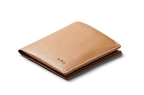 Bellroy Note Sleeve Wallet (Slim Leather Men's Wallet, RFID Blocking, Holds 4-11 Cards, Coin Pouch, Flat Note Section) - Tan