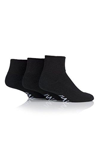 IOMI SockShop Herren IOMDS Footnurse Gentle Grip Diabetiker-Knöchelsocken Packung mit 3 Schwarz 46-48