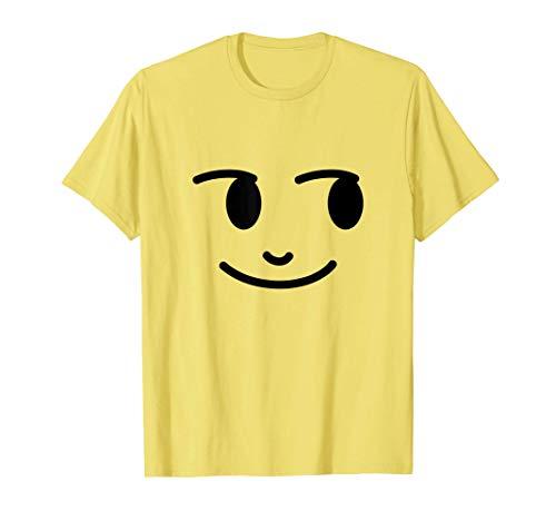 Halloween Emojis Costume Shirt Creepy Smirking Moon T-Shirt