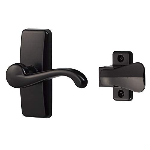 Ideal Security Inc. SKGLWBLUS GL Lever Set for Storm and Screen Doors, 2-Piece, Black