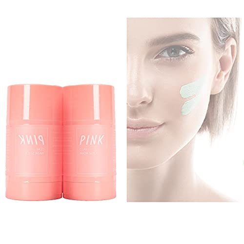 Detox Face Mask, PORIEfy Clear, Pink Purifying Clay Stick Mask, Blackhead Remover Peel Off Mask - Anti Ageing Vitamin, Get New Skin (2PCS Pink)