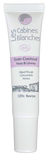 Les Cabines Blanches Soin contour Yeux & Lèvres certifié bio 15 ml