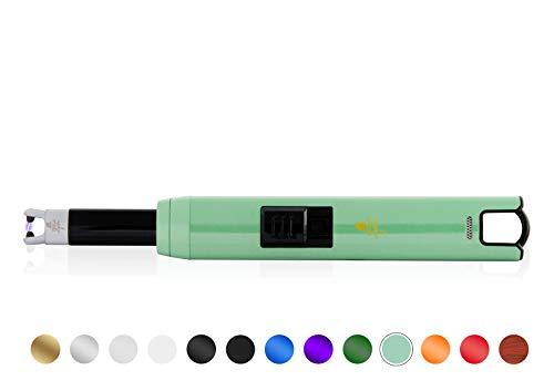 TESLA Lighter TESLA Lighter T07 Lichtbogen-Feuerzeug, elektronisches USB Stabfeuerzeug, Single-Arc Lighter, wiederaufladbar Matt-Blau Matt-blau