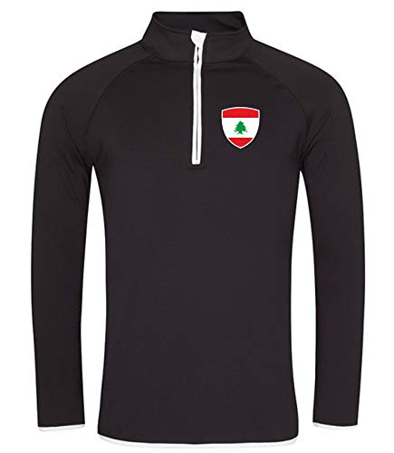 Nation Libanon Sweatshirt Sport Atmungsaktiv UV-Schutz JC SC-W (XXL)